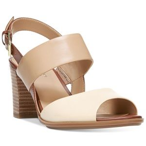 Naturalized Lahnny block heel sandals NIB